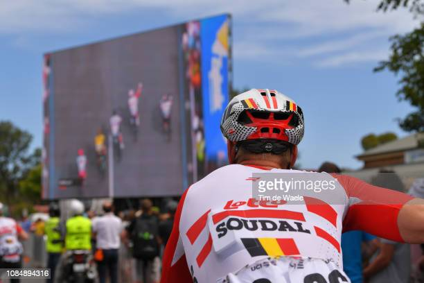 Arrival / Roger Kluge of Germany and Team Lotto Soudal / Caleb Ewan of Australia and Team Lotto Soudal Disqualified / Celebration / during the 21st...
