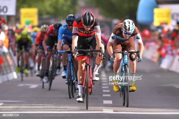 Arrival / Rohan Dennis of Australia and BMC Racing Team / Pierre Latour of France and Team AG2R La Mondiale / during the 72nd Tour de Romandie 2018,...