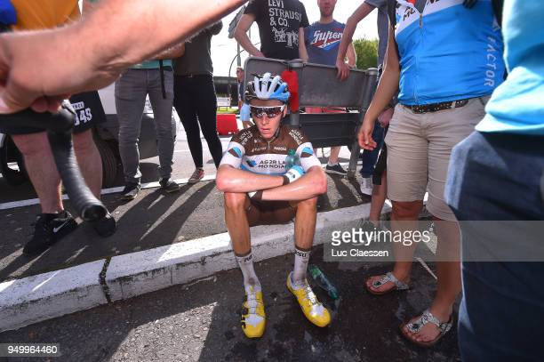 Arrival / Romain Bardet of France and Team AG2R La Mondiale / during the104th LiegeBastogneLiege 2018 a 2585km race from Liege to LiegeAns on April...