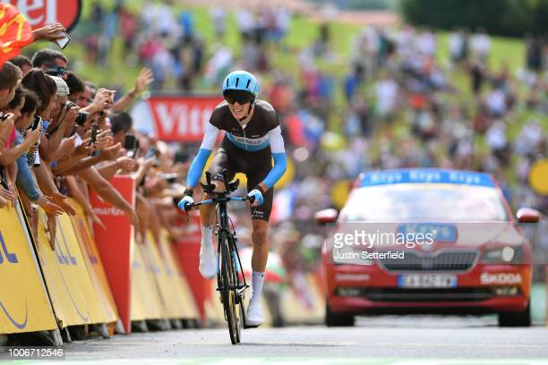 Arrival / Romain Bardet of France and Team AG2R La Mondiale / during the 105th Tour de France 2018, Stage 20 a 31km Individual Time Trial stage from...