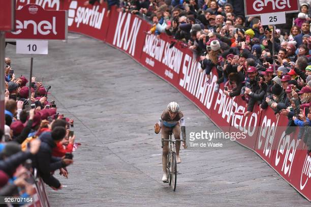 Arrival / Romain Bardet of France / Eroica / Siena Siena on March 3 2018 in Siena Italy