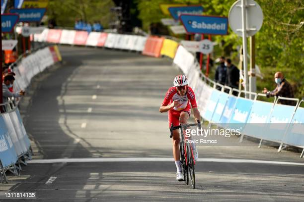 Arrival / Ruben Fernandez Andujar of Spain and Team Cofidis during the 60th Itzulia-Vuelta Ciclista Pais Vasco 2021, Stage 6 a 111,9km stage from...