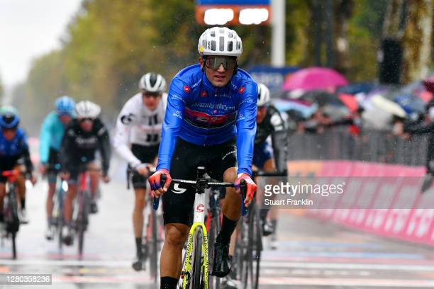 Arrival / Ruben Guerreiro of Portugal and Team EF Pro Cycling Blue Mountain Jersey / during the 103rd Giro d'Italia 2020 - Stage Twelve a 204km stage...