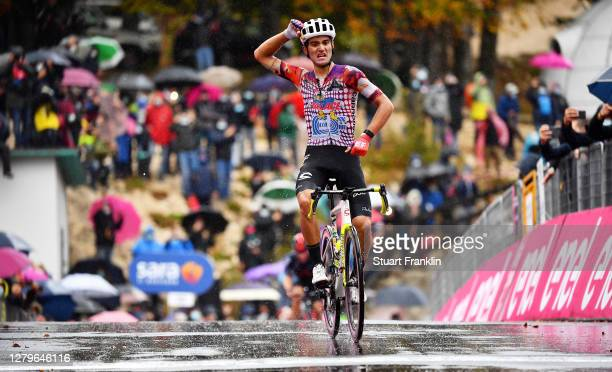 Arrival / Ruben Guerreiro of Portugal and Team EF Pro Cycling / Celebration / during the 103rd Giro d'Italia 2020, Stage 9 a 207km stage from San...