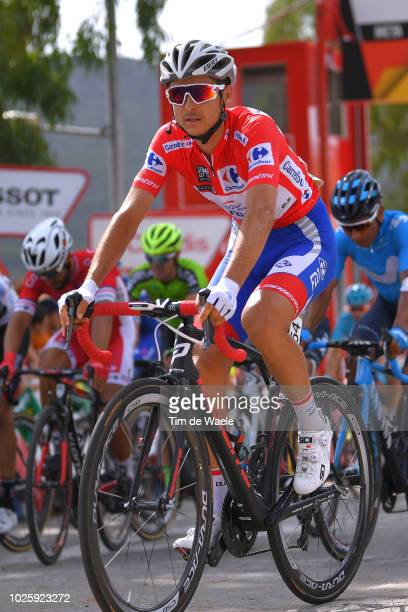 Arrival / Rudy Molard of France and Team Groupama FDJ Red Leader Jersey / during the 73rd Tour of Spain 2018 / Stage 8 a 195,1km stage from Linares...