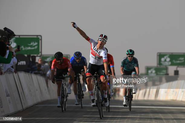 Arrival / Rui Costa of Portugal and UAE Team Emirates / Celebration / Nacer Bouhanni of France and Team Arkea-Samsic / Heinrich Haussler of Australia...