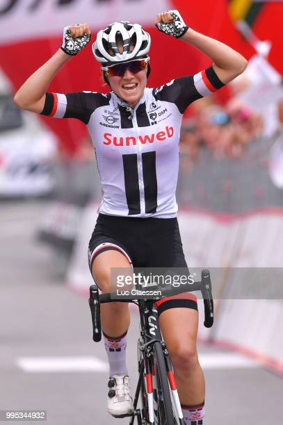 Arrival / Ruth Winder of The United States and Team Sunweb / Celebration / during the 29th Tour of Italy 2018 - Women, Stage 5 a 122,6km stage from...