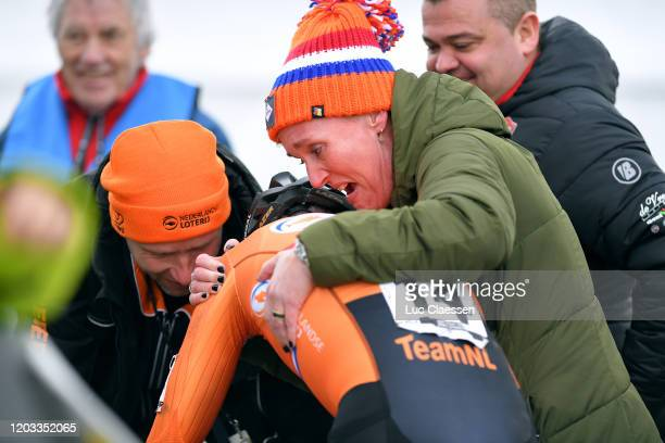 Arrival / Ryan Kamp of The Netherlands / Celebration / Mother / during the 71st Cyclocross World Championships Dübendorf 2020, Men U23 / @UCI_CX /...