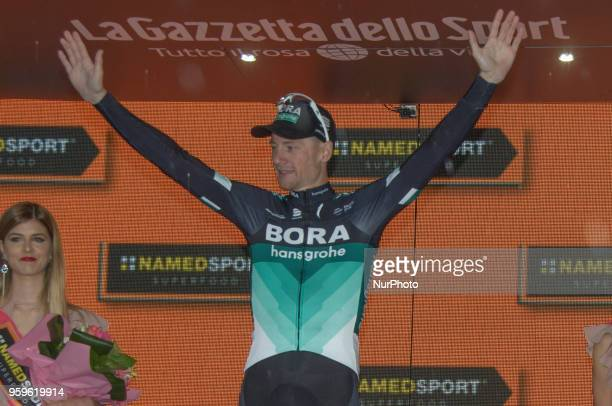 Arrival / Sam Bennett of Ireland and Team BoraHansgrohe / Celebration on podium during the 101st Tour of Italy 2018 Stage 12 a 214km stage from Osimo...