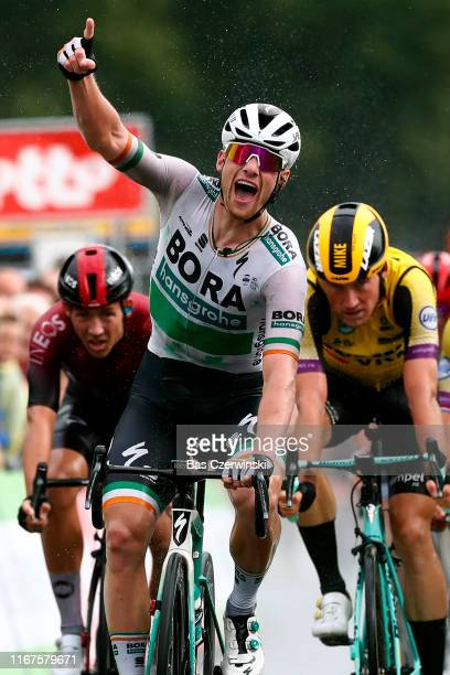 Arrival / Sam Bennett of Ireland and Team Bora-Hansgrohe / Celebration / during the 15th Binck Bank Tour 2019, Stage 1 a 167,2km stage from Beveren...