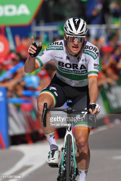 Arrival / Sam Bennett of Ireland and Team Bora-Hansgrohe / Celebration / during the 74th Tour of Spain 2019, Stage 14 a 188km stage from San Vicente...