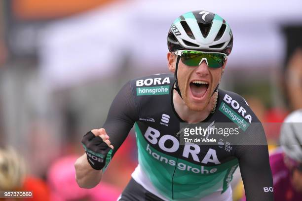 Arrival / Sam Bennett of Ireland and Team Bora-Hansgrohe / Celebration / during the 101th Tour of Italy 2018, Stage 7a 159km stage from Pizzo to...