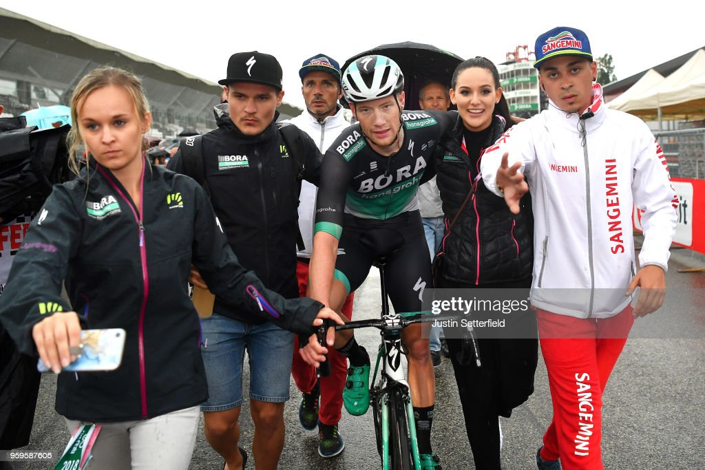 Arrival / Sam Bennett of Ireland and Team Bora-Hansgrohe / Celebration / during the 101st Tour of Italy 2018, Stage 12 a 214km stage from Osimo to Imola-Autodromo Enzo e Dino Ferrari / Giro d'Italia / on May 17, 2018 in Imola, Italy.