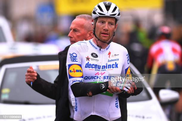 Arrival / Sam Bennett of Ireland and Team Deceuninck - Quick-Step / Crash / Injury / during the 78th Paris - Nice 2020, Stage 3 a 212,5km stage from...