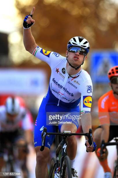 Arrival / Sam Bennett of Ireland and Team Deceuninck - Quick-Step / Celebration / during the 75th Tour of Spain 2020, Stage 4 a 191,7km stage from...