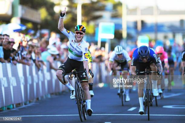 Arrival / Sam Bennett of Ireland and Team Deceuninck - Quick-Step / Celebration / Giacomo Nizzolo of Italy and Team NTT Pro Cycling / during the 4th...