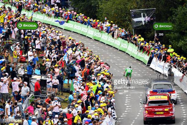 Arrival / Sam Bennett of Ireland and Team Deceuninck - Quick-Step Green Points Jersey / Fans / Public / during the 107th Tour de France 2020, Stage...