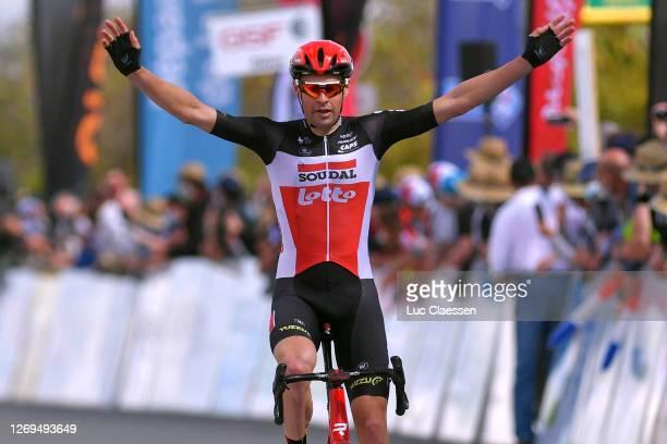 Arrival / Sander Armee of Belgium and Team Lotto Soudal / Celebration / 2during the 33rd Tour Poitou-Charentes en Nouvelle Aquitaine 2020 - Stage 3a...