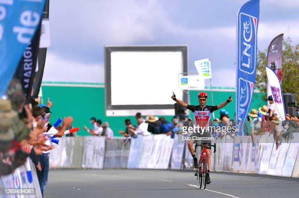 Arrival / Sander Armee of Belgium and Team Lotto Soudal / Celebration / during the 33rd Tour Poitou-Charentes en Nouvelle Aquitaine 2020 - Stage 3a a...