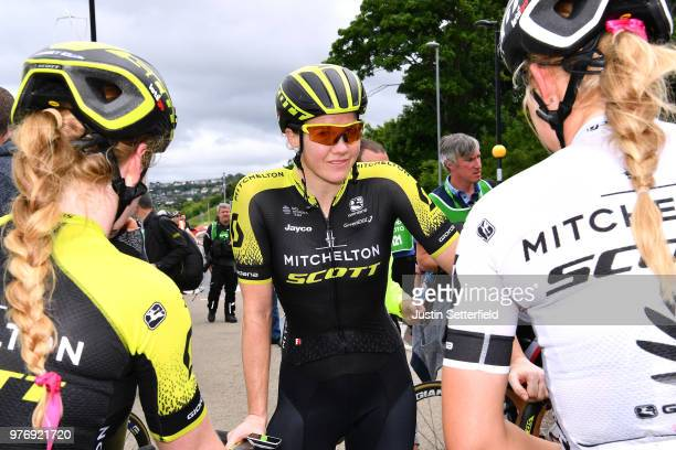 Arrival / Sarah Roy of Australia and Team MitcheltonScott / Celebration / during the 5th OVO Energy Women's Tour 2018 Stage 5 a 122km stage from...
