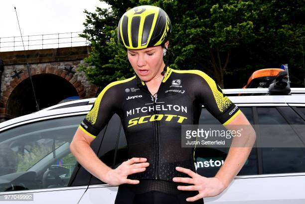 Arrival / Sarah Roy of Australia and Team MitcheltonScott / Disapointment / during the 5th OVO Energy Women's Tour 2018 Stage 5 a 122km stage from...