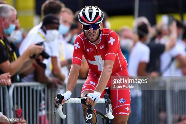 Arrival / Sebastien Reichenbach of Switzerland and Team Groupama - FDJ / during the 107th Tour de France 2020, Stage 16 a 164km stage from La...