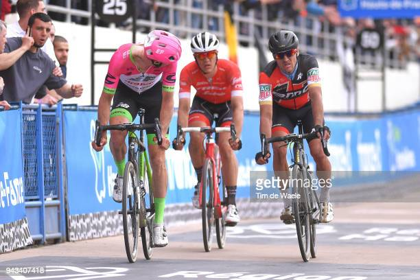 Arrival / Sep Vanmarcke of Belgium and Team EF Education First - Drapac P/B Cannondale / Jasper Stuyven of Belgium and Team Trek - Segafredo / Greg...