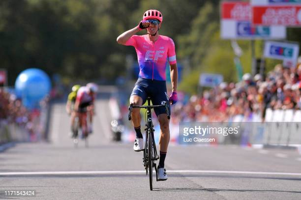 Arrival / Sep Vanmarcke of Belgium and Team EF Education First / Celebration / during the 83rd Bretagne Classic Ouest-France 2019 a 248,1km stage...