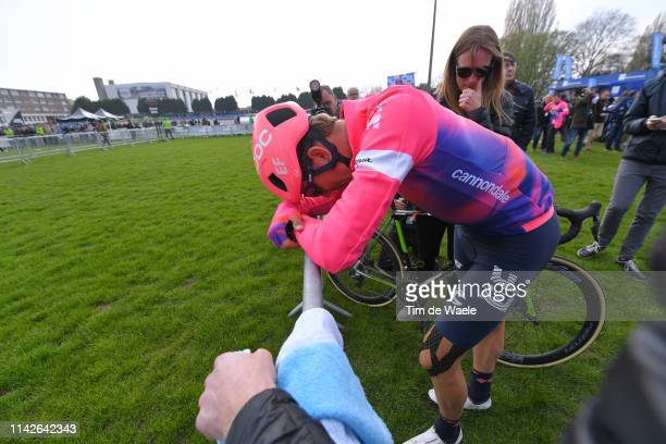 Arrival / Sep Vanmarcke of Belgium and Team EF Education First / Disappointment / Track Roubaix Velodrome / during the 117th Paris-Roubaix a 257km...