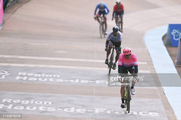Arrival / Sep Vanmarcke of Belgium and Team EF Education First / Track Roubaix Velodrome / during the 117th Paris-Roubaix a 257km race from Compiègne...