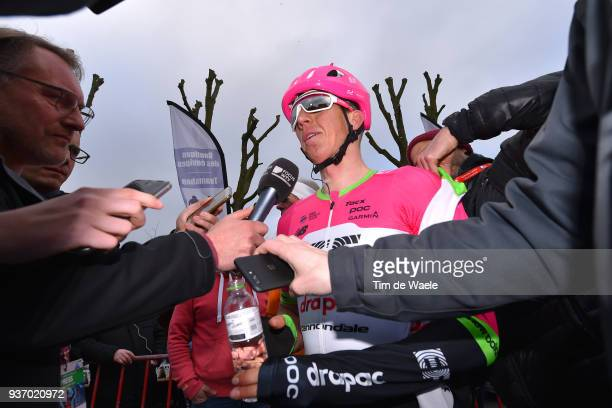 Arrival / Sep Vanmarcke of Belgium and Team EF Education First-Drapac p/b Cannondale / Media / during the 61st E3 Harelbeke 2018 a 206,4km race from...
