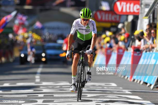 Arrival / Serge Pauwels of Belgium and Team Dimension Data / Injury / during the 105th Tour de France 2018, Stage 15 a 181,5km stage from Millau to...