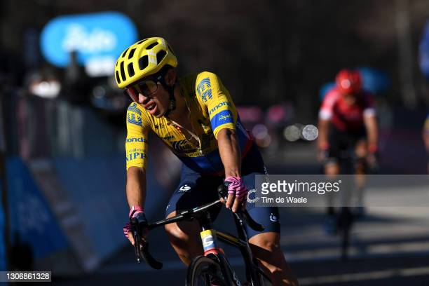 Arrival / Sergio Andres Higuita Garcia of Colombia and Team EF Education - Nippo during the 56th Tirreno-Adriatico 2021, Stage 4 a 148km stage from...