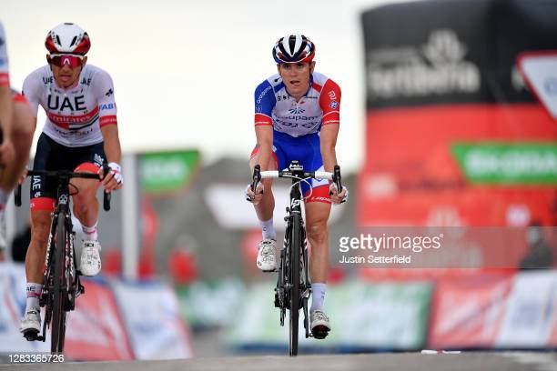 Arrival / Sergio Henao Montoya of Colombia and UAE Team Emirates / David Gaudu of France and Team Groupama - FDJ / during the 75th Tour of Spain...