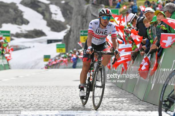 Arrival / Sergio Henao of Colombia and UAE - Team Emirates / during the 83rd Tour of Switzerland, Stage 7 a 216,6km stage from Unterterzen to San...