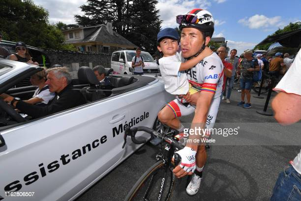 Arrival / Sergio Henao of Colombia and UAE Team Emirates / Son / during the 106th Tour de France 2019, Stage 12 a 209,5km stage from Toulouse to...