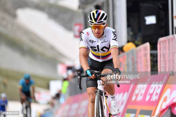 ITALIA CAMPO IMPERATORE ITALY MAY 13 Arrival / Sergio Luis Henao Montoya of Colombia and Team Sky / during the 101th Tour of Italy 2018 Stage 9 a...