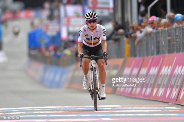Arrival / Sergio Luis Henao Montoya of Colombia and Team Sky / during the 101st Tour of Italy 2018 Stage 20 a 214km stage from Susa to Cervinia 2001m...