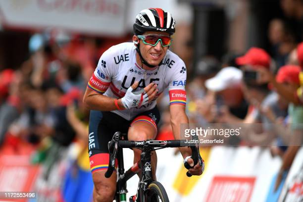 Arrival / Sergio Luis Henao Montoya of Colombia and UAE Team Emirates / during the 74th Tour of Spain 2019, Stage 12 a 171,4km stage from Circuito de...