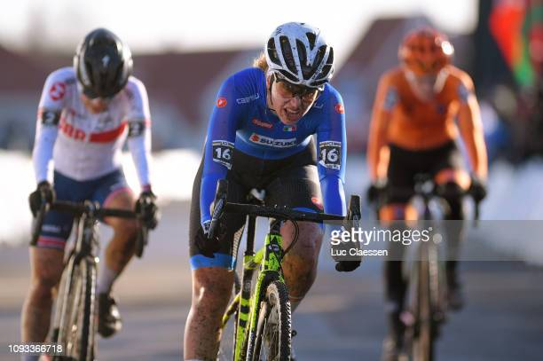 Arrival / Silvia Persico of Italy and Team Italy / during the 70th Cyclo-cross World Championships Bogense 2019, Women Under 23 / Cross Denmark /...