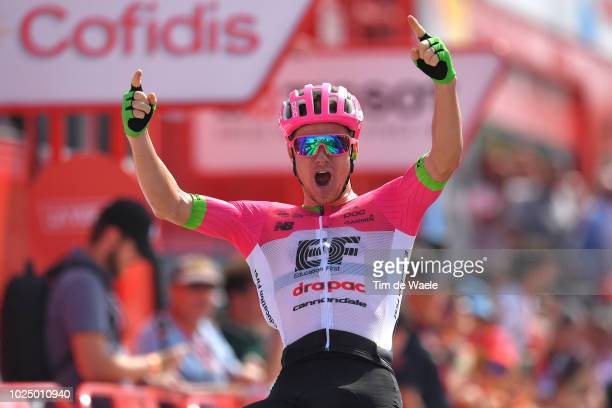 Arrival / Simon Clarke of Australia and Team EF Education First Drapac P/B Cannondale / Celebration / during the 73rd Tour of Spain 2018 Stage 5 a...