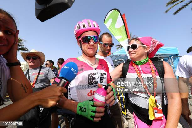 Arrival / Simon Clarke of Australia and Team EF Education First - Drapac P/B Cannondale / Celebration / during the 73rd Tour of Spain 2018, Stage 5 a...