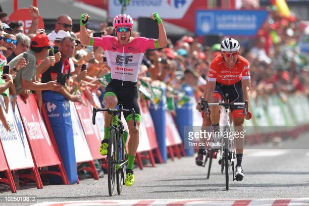 Arrival / Simon Clarke of Australia and Team EF Education First - Drapac P/B Cannondale / Celebration / Bauke Mollema of The Netherlands and Team...