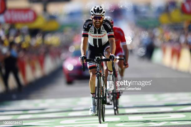 Arrival / Simon Geschke of Germany and Team Sunweb / during the 105th Tour de France 2018 Stage 14 a 188km stage from SaintPaulTroisChateaux to Mende...