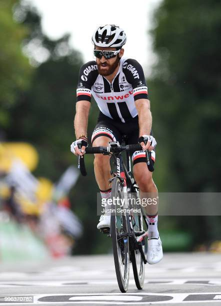 Arrival / Simon Geschke of Germany and Team Sunweb / during the 105th Tour de France 2018 Stage 5 a 2045km stage from Lorient to Quimper / TDF / on...