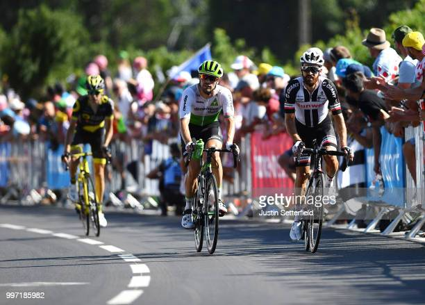 Arrival / Simon Geschke of Germany and Team Sunweb / Reinardt Janse Van Rensburg of South Africa and Team Dimension Data / during 105th Tour de...