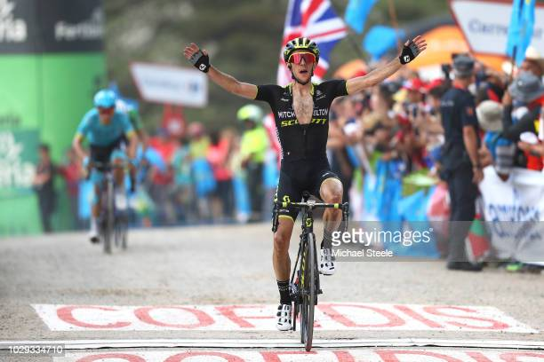 Arrival / Simon Yates of Great Britain and Team MitcheltonScott / Celebration / during the 73rd Tour of Spain 2018 Stage 14 a 1714km stage from...