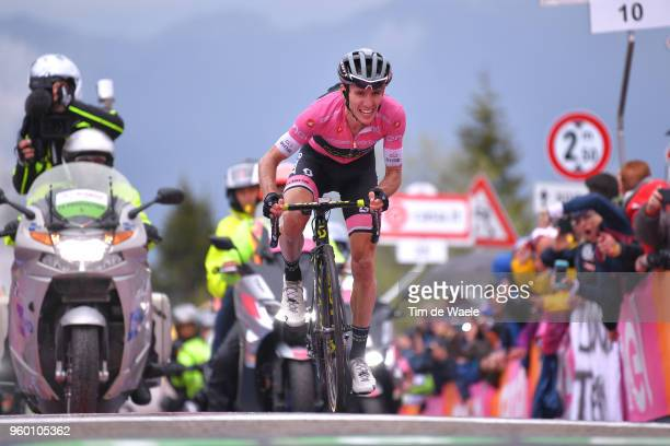 Arrival / Simon Yates of Great Britain and Team Mitchelton-Scott Pink Leader Jersey / during the 101st Tour of Italy 2018, Stage 14 a 186km stage...
