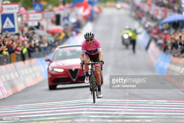 Arrival / Simon Yates of Great Britain and Team Mitchelton-Scott Pink Leader Jersey / Celebration / during the 101st Tour of Italy 2018, Stage 15 a...
