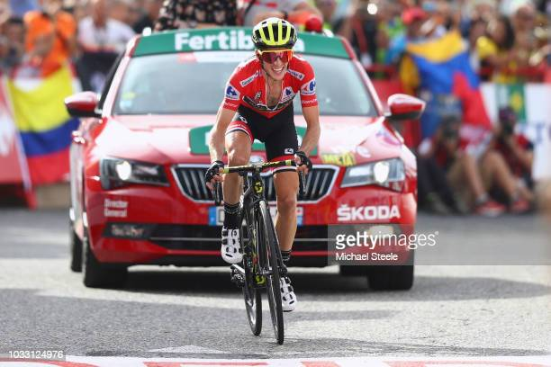 Arrival / Simon Yates of Great Britain and Team Mitchelton-Scott Red Leader Jersey / Celebration / during the 73rd Tour of Spain 2018, Stage 19 a...
